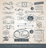 Calligraphy design elements — Stock Vector