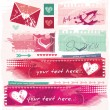 Stock Vector: Grungy Valentine and dating site banners