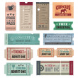 Vintage Tickets - Stock vektor