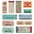 Vintage Tickets - Vettoriali Stock