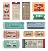 Vintage biletleri — Stok Vektör