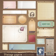 Vintage papers collection — Stock Vector