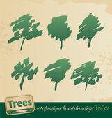 Trees silhouettes — Stockvektor