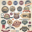 Retro labels collection — Stock Vector