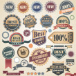 Retro labels collection - Stock Vector