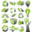 Ecology green icons — Stock Vector