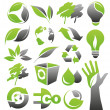 Stock Vector: Ecology green icons