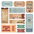 Vintage Tickets — Stock Vector #9528209
