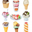 Set of ice cream. — Stock Vector #8243325