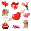 Royalty-Free Stock ベクターイメージ: Set of elements for st. Valentine\'s day.
