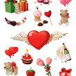 Royalty-Free Stock Imagen vectorial: Valentine set