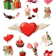 Royalty-Free Stock Obraz wektorowy: Valentine set