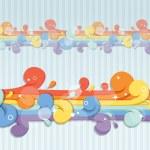 abstracte naadloze regenboog stroom — Stockvector
