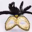 Stock Photo: Carniwal mask with feathers