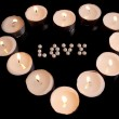 Heart with candles — Foto de Stock