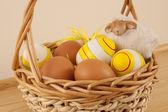 Easter basket — Stock Photo