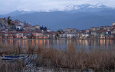 Cityscape of Kastoria town in Greece — Stock Photo