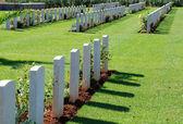 Military cemetery, Crete, Greece — Stock Photo