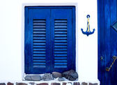 Greek traditional house exterior — Stock Photo