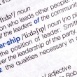 Leader  dictionary definition - Stock Photo