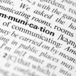 Communication dictionary word - Stock Photo