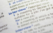Interview word definition — Stock Photo