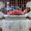 Stock Photo: Burning Incense in Buddhisttemple