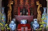Interior of a Buddhism temple — Стоковое фото