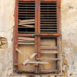Old wooden broken window — Stock Photo