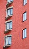 Apartment windows — Stock Photo