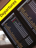 Arrival departures board — Stock Photo