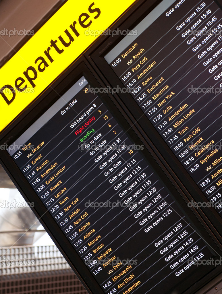 Arrival departures notice board — Stock Photo #8629718