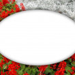 Flower photo frame — Stock Photo