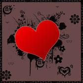 心脏的形状背景 — 图库照片