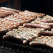 Sausages on grill — Stock Photo #8651242