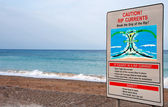 Dangerous waves warning sign — Foto Stock