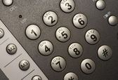 Modern telephone keypad. — Stock Photo