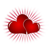 Red Hearts — Foto de Stock