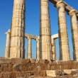 Columns from temple of Poseidon in Greece — Stock Photo