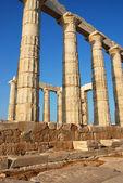 Columns from temple of Poseidon in Greece — Stockfoto