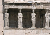 Caryatids at Athens Acropolis Hill — Stock Photo