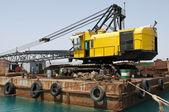 La grúa del puerto de excavación — Foto de Stock