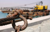 Metal rope and safety lock — Stock Photo