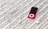 MP3 music player — Stock Photo