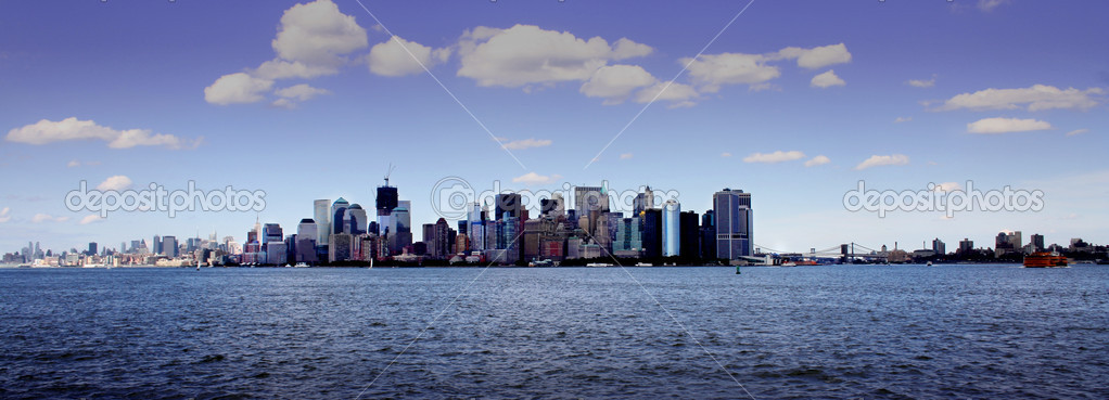 Skyline of Manhattan, New York. — Stock Photo #8247741