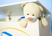 Escaping teddy bear — Stock Photo