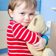 Boy with teddy bear — Stock Photo #9112156