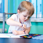 Boy painting — Stock Photo