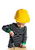 Child with screwdriver — Stock Photo