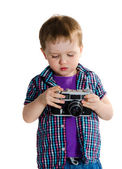 Baby photographer — Stock Photo